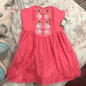Lilly Pulitzer pink/salmon mayfield dress NWT